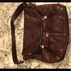B Makowsky brown leather hobo